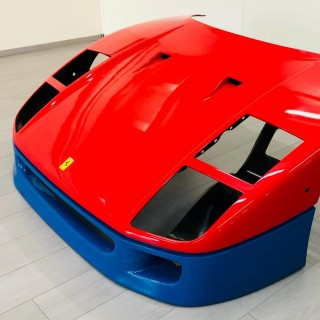 An Original Ferrari F40 GT Car Front Cowl And A Signed Kimi Räikkönen Helmet Have Been Added To The Shop