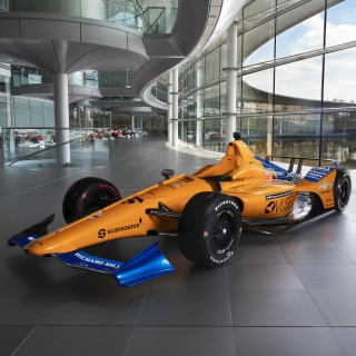 "Fernando Alonso's ""Triple Crown"" McLaren Indy 500 Challenger Is Unveiled"
