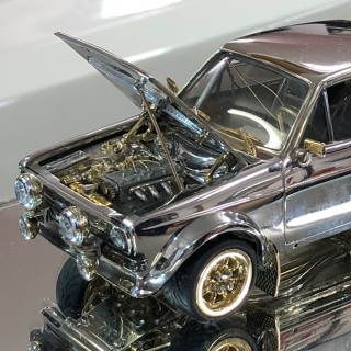 Amazing 1/25 Scale Ford Escort Made From Precious Metals Is Coming To Petrolicious Drivers' Meeting