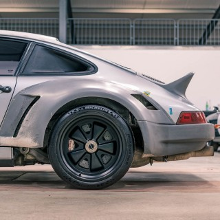 The Test Mule For The Singer Dynamics and Lightweighting Study Is Coming To The Petrolicious Drivers' Meeting!