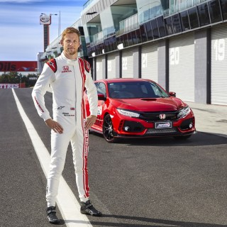 Jenson Button And The Honda Civic Type R Prove To Be A Record-Breaking Combination At Bathurst, Australia