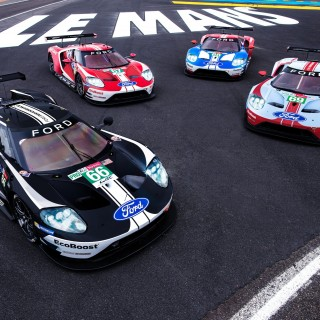Le Mans 24 Hour Race's Ganassi Ford GTs Get Retro Livery Treatment