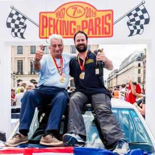 The Gruelling 8500-Mile Peking To Paris Motor Challenge Was Won By An 87-Year-Old In A 1974 Leyland P76!
