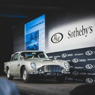 'The Most Famous Car In The World' James Bond Aston Martin Sets DB5 Record With $6.3m Sale In Monterey Auction