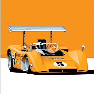 Motorsport Meets Pop Art: 6 Can-Am Race Car Prints Have Been Added To The Shop