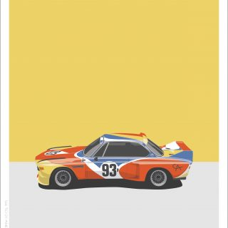BMW CSL And M1 Art Cars Live Up To Their Name In This New Print Series
