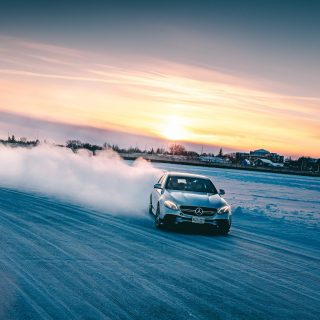 Mercedes-Benz Builds Ice Garage For Its Manitoba Frozen Lake Track