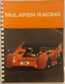 1972 McLaren Racing Booklet