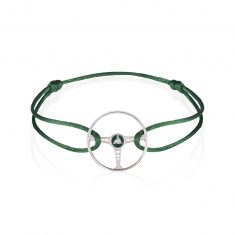 Racing Green Steering Wheel on British Green Cord