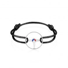 24H Le Mans Bracelet on Jet Black Cord