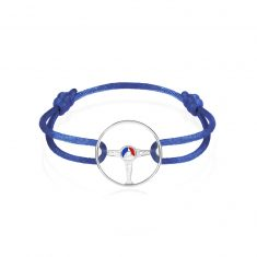24H Le Mans Bracelet on Bleu France Cord