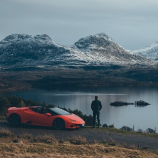 Driving A Lamborghini Huracán EVO Spyder Through Skyfall Country Along Scotland's North Coast 500