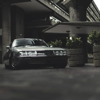 European Noir: A Citroën SM Skates Through The Shadows Of The Barbican Centre