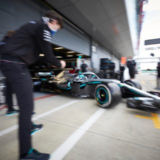 Mercedes F1 Returns To The Track With Two-Year Old Car