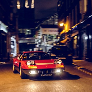 A Ferrari 365 GT/4 BB Spices Up The Nighttime Scenery Of London's Borough Market