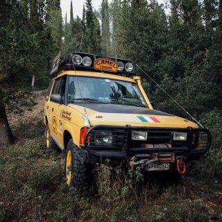 Rediscovery: An Italian Adventurer Who's Reunited With His 1991 Camel Trophy Land Rover