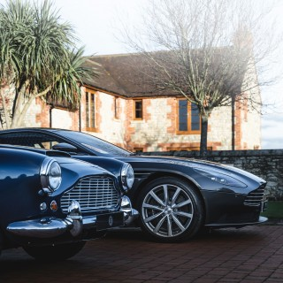 Keeping It In The Family With An Aston Martin DB11 And DB4 Convertible In England